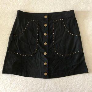 Tobi Black Button Down Mini Skirt